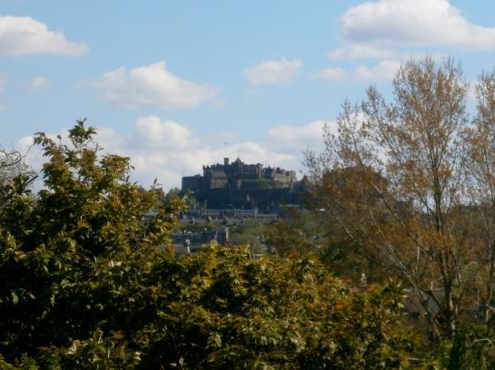 Looking back towards the central Edinburgh skyline.